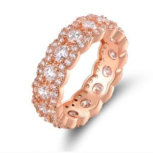 Jewelry - 18k Rose Gold Plating Cubic Zirconia Band Ring